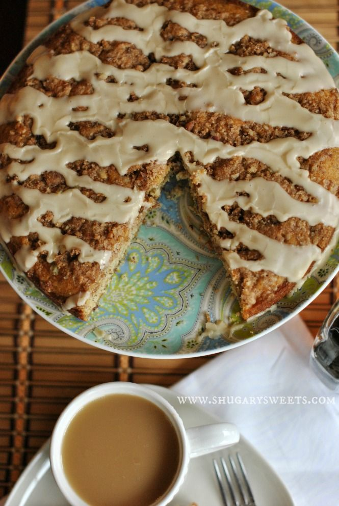 Banana Streusel Coffee Cake: the perfect breakfast for your family and friends, easy to make too! @Shugary Sweets #banana