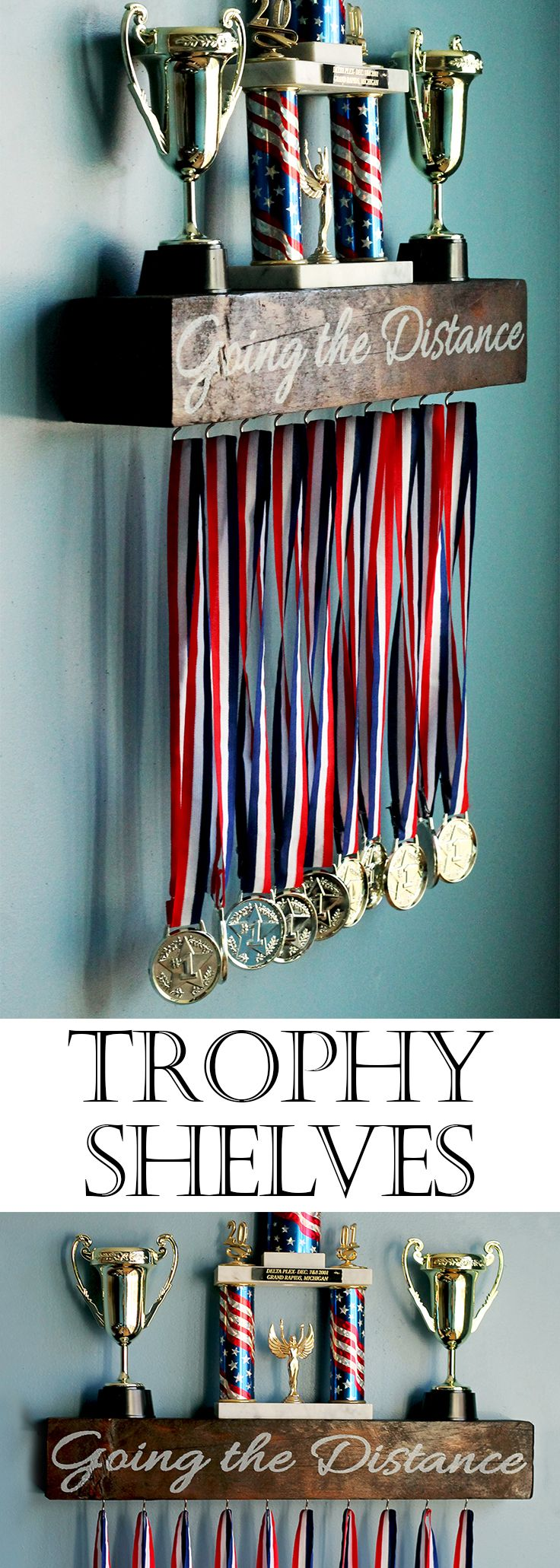 - Order Details - Description - Specs - FREE SHIPPING ON ALL TROPHY SHELVES!!! Pricing: See pricing below. [Choose the size to see pricing on different sizes] Turn-Around Time: 10-14 days to manufactu