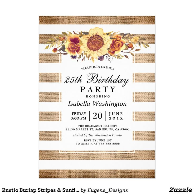 852 best Adult Birthday Invitations by age images on Pinterest ...