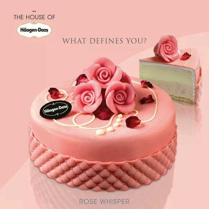 Häagen Dazs Rose Whisper Ice Cream Cakesle