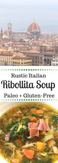 Ribollita is a traditional Tuscan soup. This paleo + gluten-free version is full of hearty vegetables and pork hock and inspired by my time working in Italy.