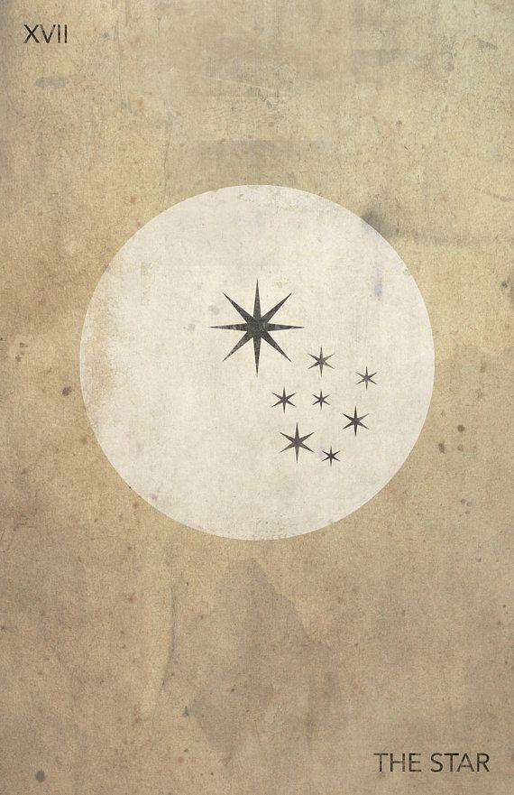 Modern Tarot Card Art | The Star | Deck Available on Etsy | Major Arcana | Oracle Cards | Divination