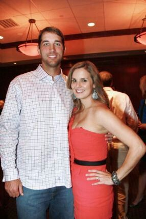 Adam Wainwright with cool, beautiful, sexy, Wife Jenny Curry