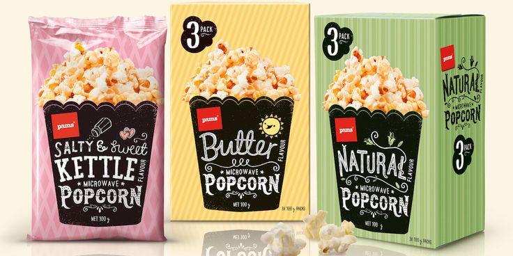 Pams Popcorn — The Dieline - Branding & Packaging