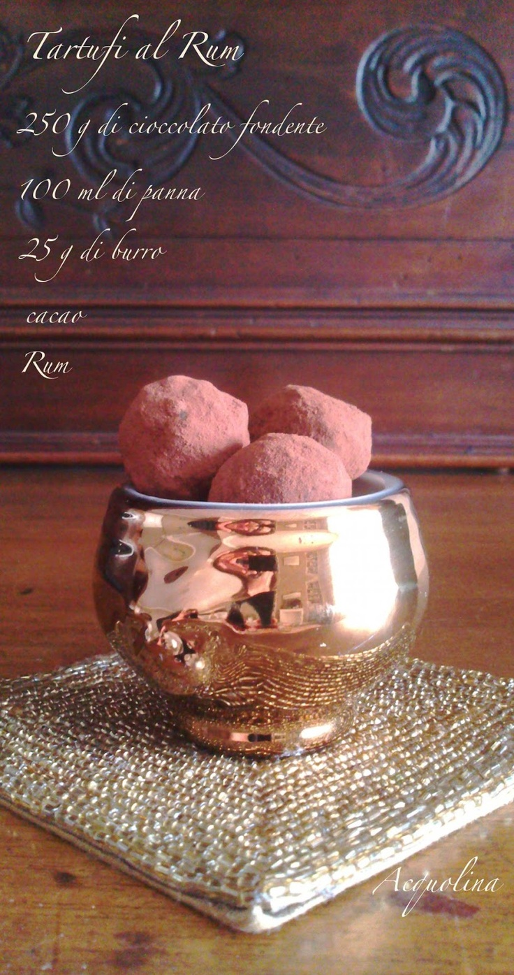 Acquolina: Tartufi di cioccolato al rum