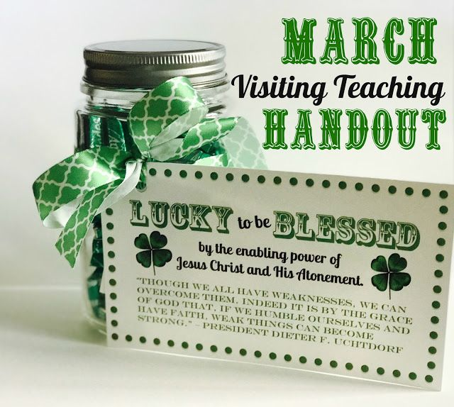 March Visiting Teaching Handout. | Marci Coombs | Bloglovin'
