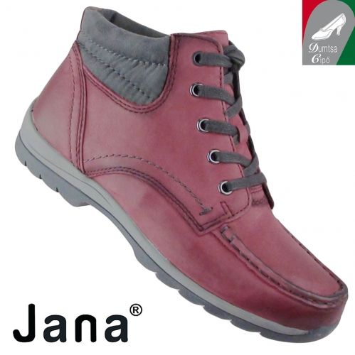 Jana női bőr bokacipő 8-25203-25 549 bordó
