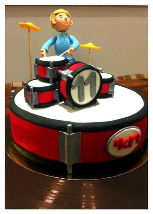 Drum cake I would love to make for my boy!