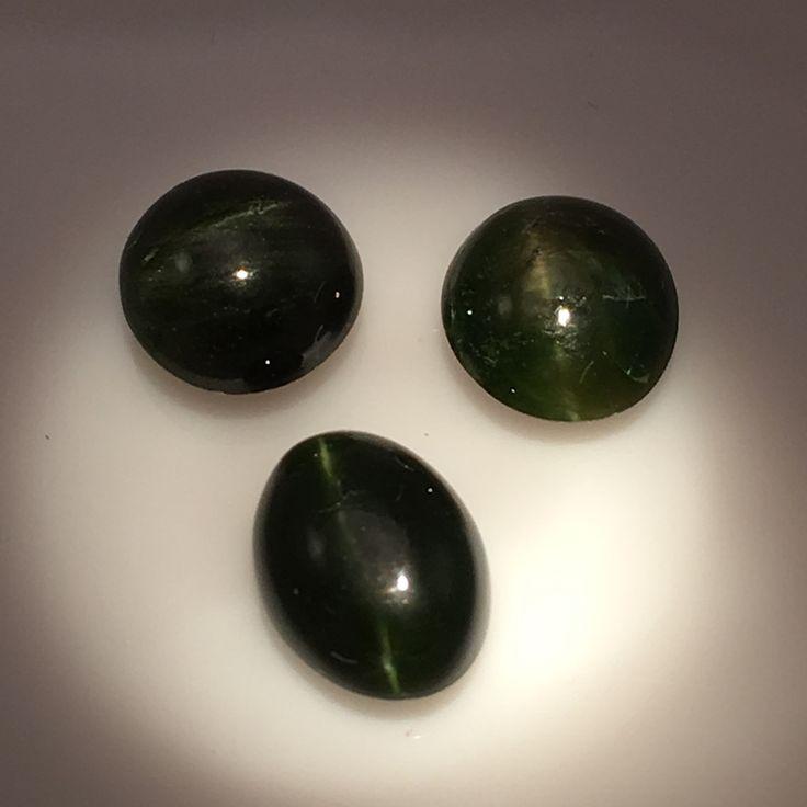 7 carat set of African Kornerupine Cats Eye Gems