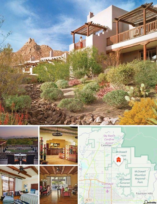 Het schitterende resort biedt fantastisch uitzicht op de High Sonoran Desert, getande bergtoppen, balancerende zwerfkeien, torenhoge reuzencactussen en de kleurrijke woestijnbloemen van de Crescent Butte.