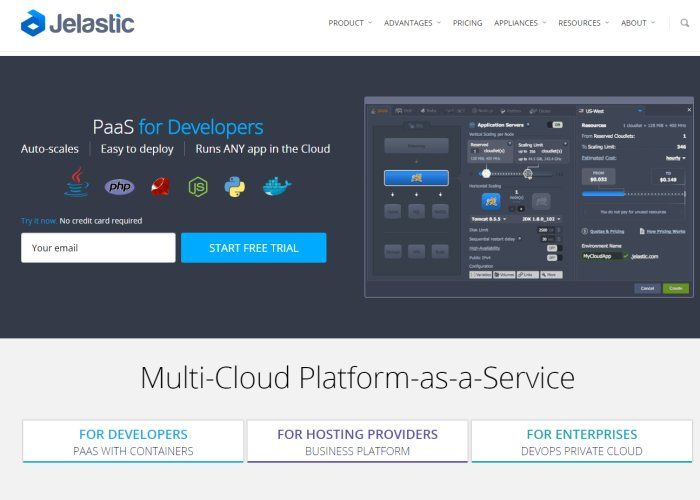 Jelastic Platform as a Service for Developers with Cross-Cloud Deployment