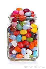 Count the jelly beans in a jar and graph the results. or give each kid a bag of jelly beans to graph with