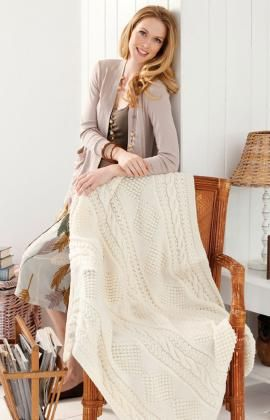 Treasure Chest Throw Free Knitting Pattern from Red Heart Yarns