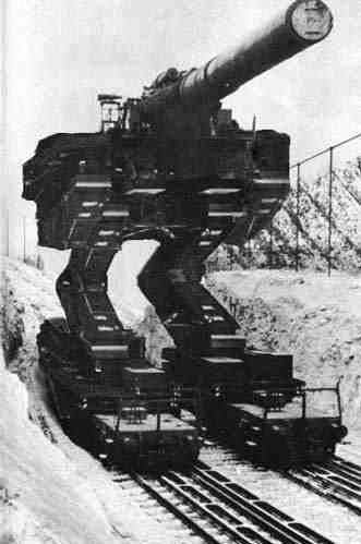 German rail gun big / big old style gun and then some ( you should see the ammo !! ) ✔️