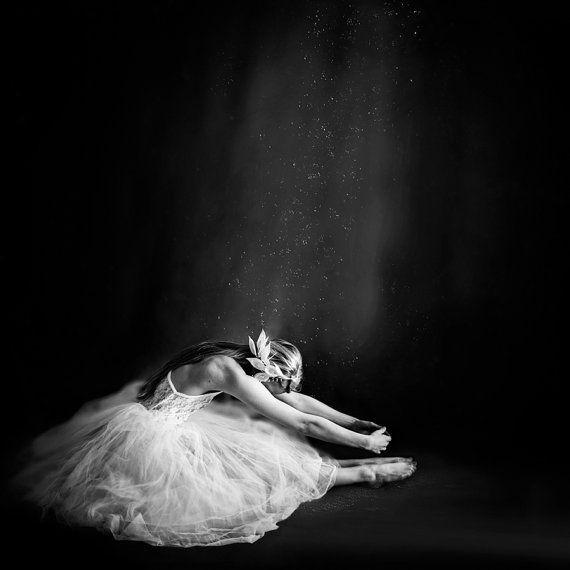 Fine Art Photography Print, Ballerina in Black & White, 16 x 16 Print - Ballerina IV on Etsy, $64.11