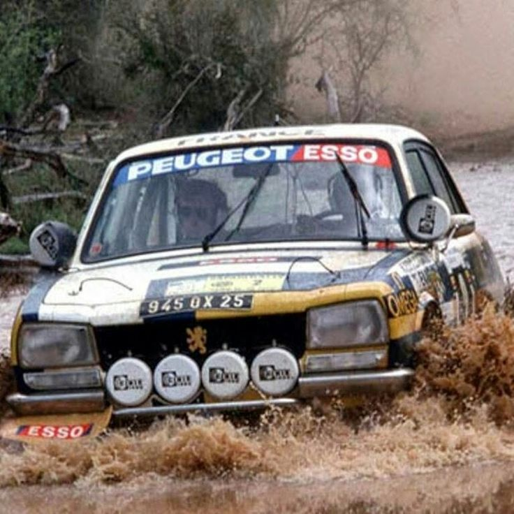 Peugeot 504 in rally competition