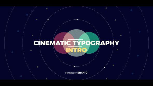 Cinematic Typography Intro