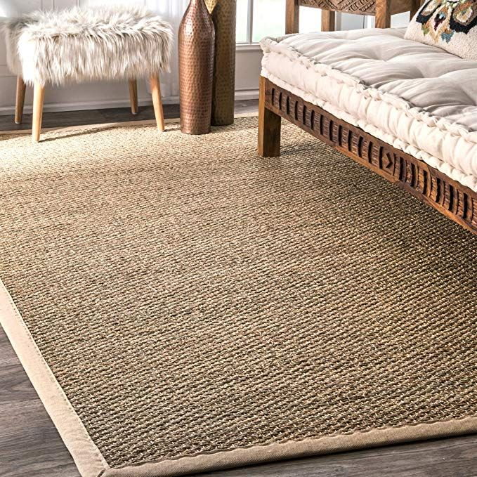 Amazon Com Nuloom Elijah Seagrass Natural Area Rug 6 X 9 Beige Kitchen Dining In 2020 Seagrass Area Rug Natural Area Rugs Area Rugs
