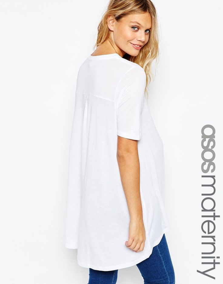 ASOS+Maternity+Top+with+Dip+Back+In+Oversized+Fit