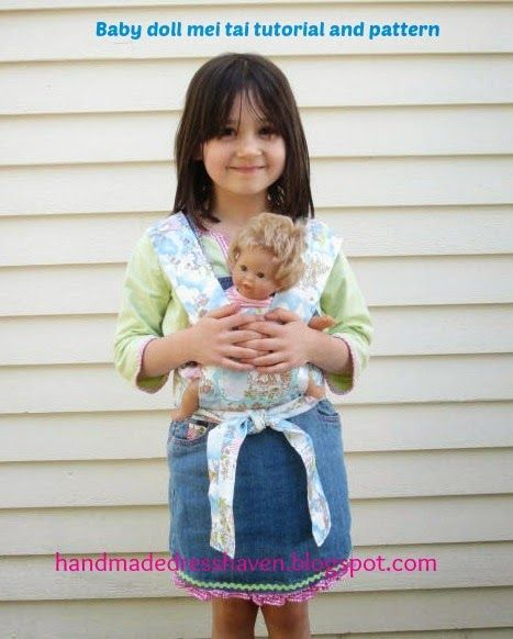 baby doll carrier pattern -- I made one of these 20 years ago for the eldest girl -- need to dig it out and com[are these two
