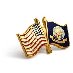U.S. and U.S. Navy Crossed Flags Lapel Pin  https://store.nwtmint.com/product_details/8499/U.S._and_U.S._Navy_Crossed_Flags_Lapel_Pin/