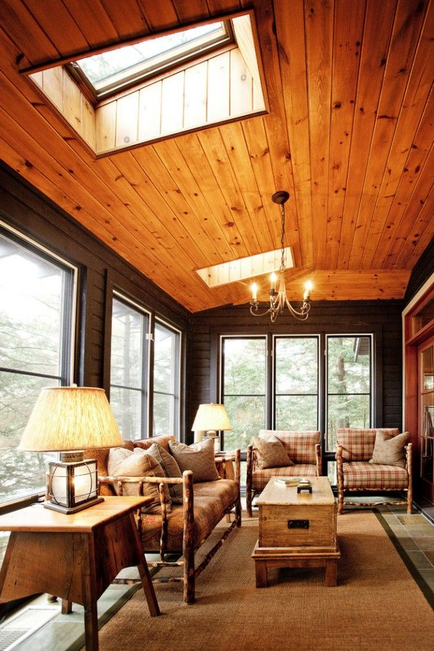 Knotty Pine Rooms: 16 Serene Rustic Conservatory Designs For The Garden