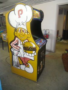 Vintage Burgertime arcade game for the future game room.