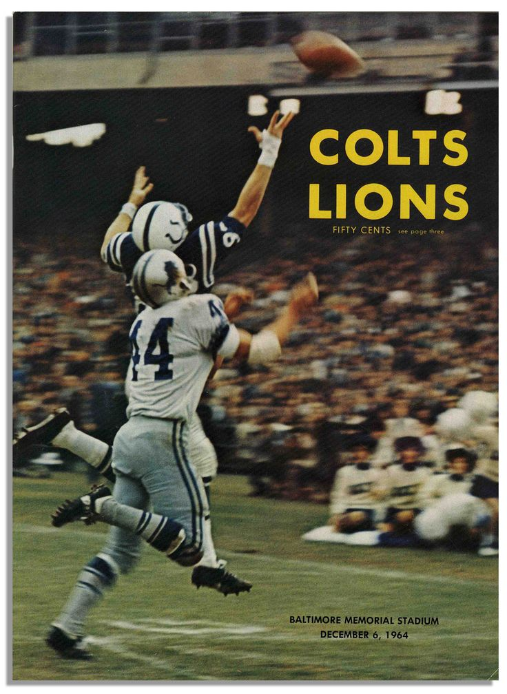 Pin by al eckels on Baltimore Colts (1958 1968