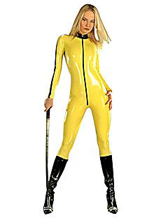 Zentai Ninja Fantasias de Cosplay / Festa a Fantasia Ninja Trajes da Noite das Bruxas Amarelo Cor Única Malha Collant/Pijama MacacãoDia Das Bruxas /