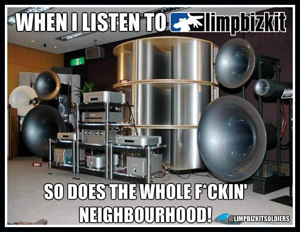 When I listen to Limp Bizkit so does the whole f*ckin' neighbourhood!  #limpbizkit #turnitup
