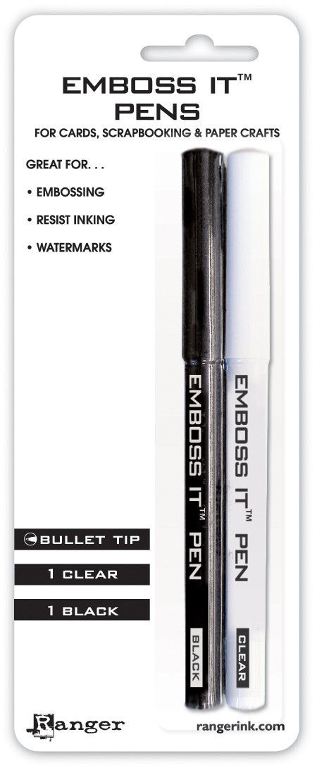 Ranger Embossing Pens - Black and Clear