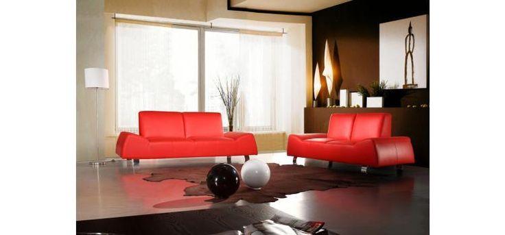 Stylish Design Furniture - 120 Modern Red Leather Sofa and Love Seat, $2,947.50 (http://www.stylishdesignfurniture.com/products/120-modern-red-leather-sofa-and-love-seat.html)