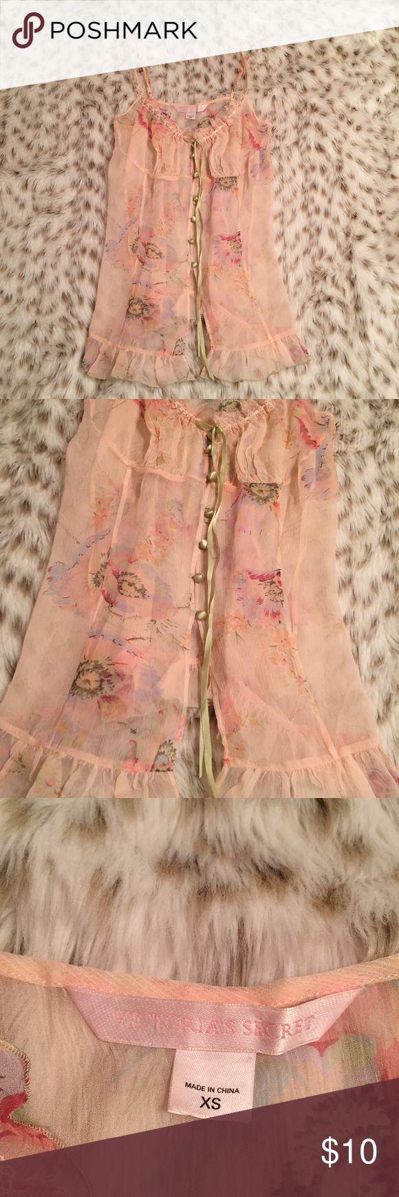 Victoria's Secret Floral pink lingerie Victoria's Secret size XS floral lingerie. Super cute! Vintage vibes! Excellent condition! Victoria's Secret Intimates & Sleepwear Chemises & Slips