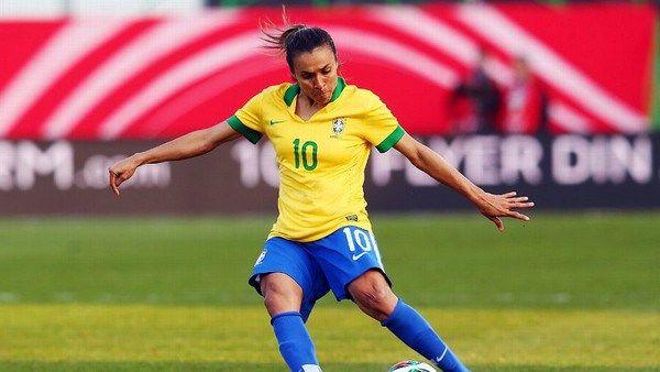 Brazilian female footballer Marta Vieira Da Silva