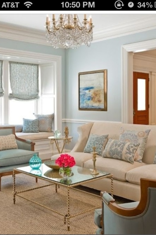 Victorian sitting room- Pretty without too many dark colors or offensive bold patterns