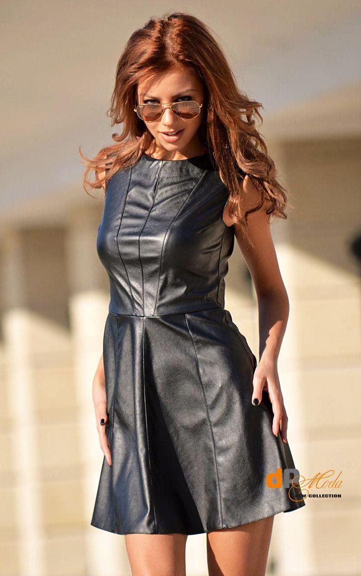 136 best op leather dress lederkleid images on pinterest leather outfits leather dresses and. Black Bedroom Furniture Sets. Home Design Ideas