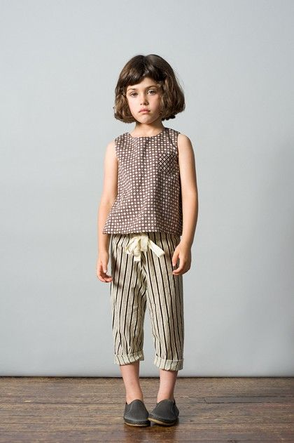 love the pattern on the top and the simple stripe trousers from Caramel baby and child