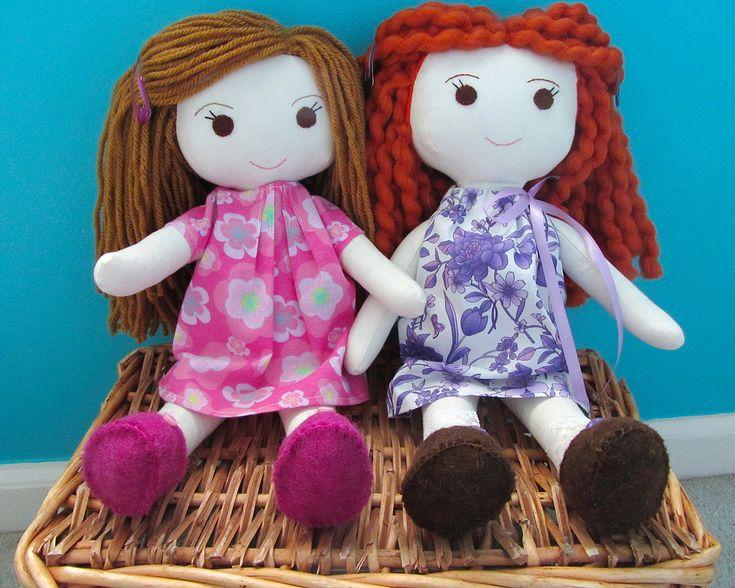 Simple Rag Doll Patterns | Wee Wonderfuls – Sewing Rag Dolls