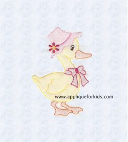 Shadow Work & Embroidery :: Babies :: Shadow Ms. Duck