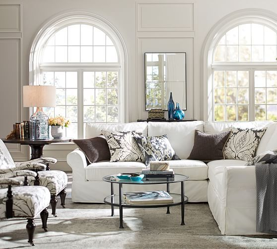 Tanner Round Coffee Table - Bronze finish | Pottery Barn