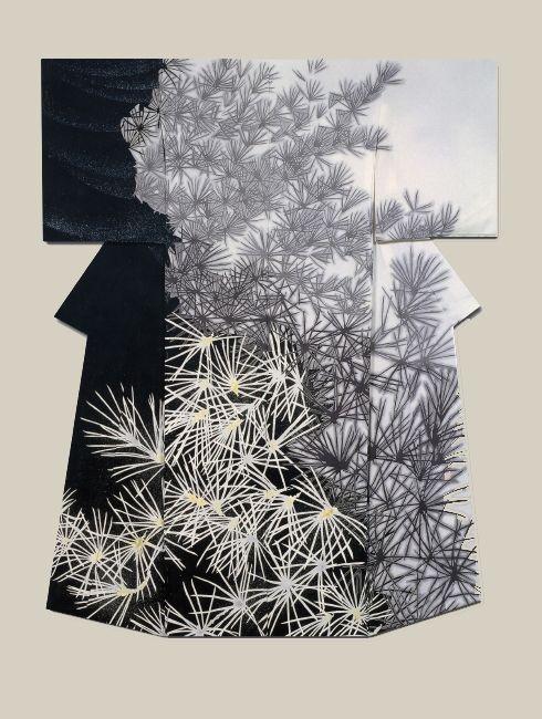 "thekimonogallery: ""Shoin"", a kimono created by artist Yuri Keiko. Jury Prize winner at the (Institute ) Japan Dyers Association"