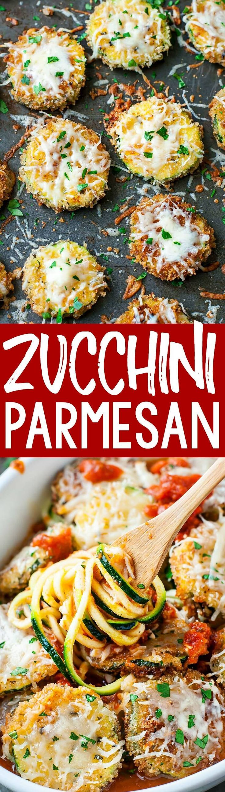 Delicious! Even my husband approves of this easy cheesy Zucchini Parmesan...