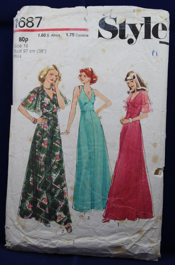 1970's Sewing Pattern for a Woman's Dress in Size 16 - Style 1687 by TheVintageSewingB on Etsy
