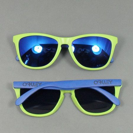 Retro OAKLEY FROGSKINS matte green and blue colored glasses frame sunglasses sunglasses street hip-hop