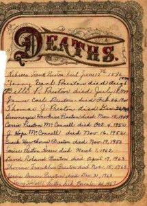 Sources of Death Records| It can be difficult to get an accurate death date, location and burial site on an ancestor. The following are a few suggestions of sources for death records. #deathrecords #primarysource
