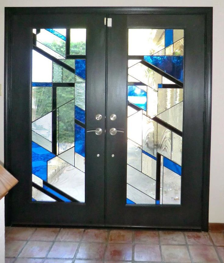 Custom stained glass doors by Art Glass by Wells
