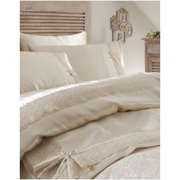 Постельное белье с покрывалом Karaca Home - Tugce krem