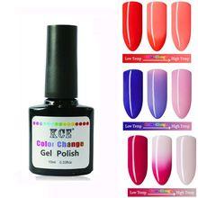 Gel unha Polonês Mudança de Temperatura de Cor Das Unhas de Gel UV Polonês gradiente Unhas de Gel para Unhas de molho off gel polonês 7.5 ml/1 pc alishoppbrasil