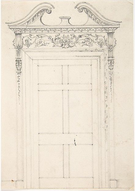 Anonymous, British, 19th century | Design for a Doorway | The Metropolitan Museum of Art