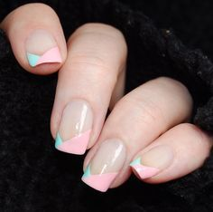 piCture pOLish Tiffany Fairy Floss alter-french nails by Katie aka Harlow Co WOW! https://www.picturepolish.com.au
